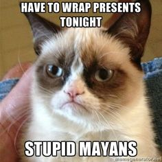 Have to wrap presents tonight. Stupid Mayans.