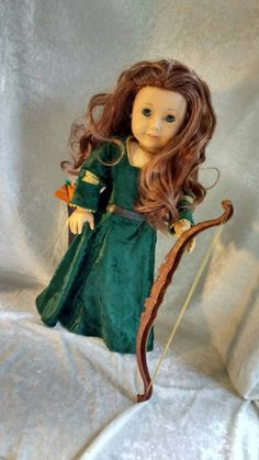 Merida Doll Costume for 18 inch by JessiesGirlClothing on Etsy