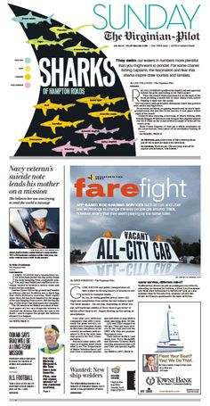 The Virginian-Pilot's front page for Sunday, Aug. 10, 2014.