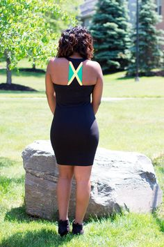 Jamaica flag maxi dress