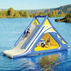 looks like so much fun! water slide