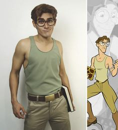 Disney Cosplay Milo Atlantis: The Lost Empire Cosplay Disney Cosplay, Anime Cosplay, Epic Cosplay, Cosplay Dress, Amazing Cosplay, Disney Costumes, Cosplay Outfits, Cool Costumes, Cartoon Costumes