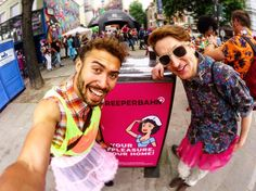The Reeperbahn (pronounced raper barn) is a famous night life / red light district street in Hamburg Germany. It is also sometimes described in German as die sündigste Meile (the most sinful mile) #Germany #Hamburg #reeperbahn #schlagermove #tutu #twins #travel #festival