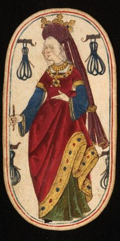 Queen (3), from the Cloisters set of fifty-two playing cards, ca. 1470–1485, South Netherlandish.