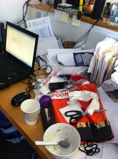 The @Shoeboxed #MessyDesk Contest is on! Repin to cast your vote and win a FREE iPad Mini! www.shoeboxed.com/messydesk