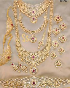 📣📣📣Whatsapp on Order📲📱📞 South Indian Bridal Jewellery, Silver Jewellery Indian, Indian Wedding Jewelry, Wedding Jewelry Sets, Gold Jewelry, Wedding Jewellery Designs, Bridesmaid Jewelry Sets, House, Bridal Necklace