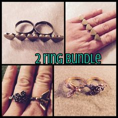 Jewelry - 🎀2 DOUBLE FINGER RINGS