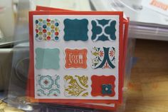 3x3 card set by ME - Stampin' Up