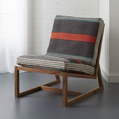sidi lounge chair   CB2 R: this style of chair is sometimes found vintage, reupholstery is not bad since the frame and back are wood