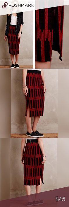 Stretch Anthropologie Midi Skirt Like new condition. Anthropologie Skirts Midi