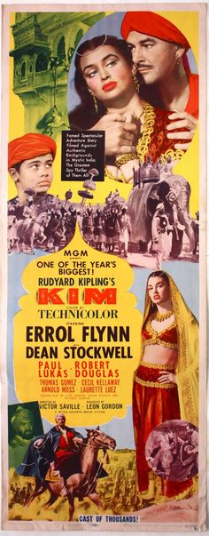 1950 adventure film directed by Victor Saville and produced by Leon Gordon, based on the classic novel of the same name by Rudyard Kipling. The film starred Errol Flynn, Dean Stockwell, and Paul Lukas. The film was shot on location in Rajasthan and Uttar Pradesh, India, as well as the Alabama Hills near Lone Pine, California, due to its resemblance to the Khyber Pass.