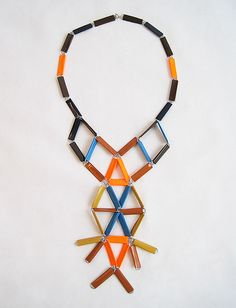 MANU HEX, PAPERCLIP & TAPE NECKLACE: time to get crafty.