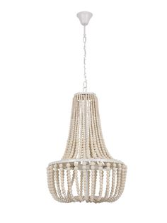 The Koralky is a new range of beaded chandeliers with a classic industrial form. Available in 6 & 8 light option in natural, black, French grey and White Wash, the Koralky is made up of thousands of wooden beads giving the chandeliers an orga Dining Pendant, White Pendant Light, Beaded Chandelier, Chandeliers, Room Lights, Pendant Lighting, Living Room Designs, Modern Coastal, Coastal Style