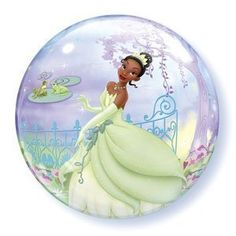 "Single Source Party Supplies - 22"" Bubble Princess and the Frog Mylar Foil Balloon"