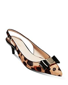 Cole Haan Women's Tali Leopard-print Slingback Pumps In Hair Calf Women's Pumps, Pump Shoes, Cowgirl Boots, Riding Boots, Leather Sandals, Leather Boots, Timberland Style, Timberland Fashion, Winter Snow Boots