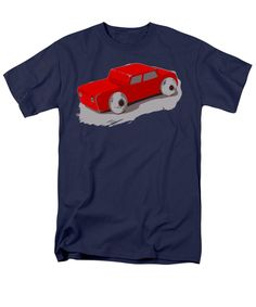 Wooden Toy T-Shirt featuring the photograph Wooden Toy Car In Red by Sverre Andreas Fekjan