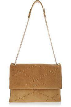 Lanvin Sugar medium quilted suede shoulder bag | NET-A-PORTER