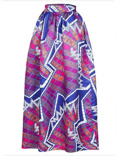 2017 Fashion Women African Print Long Skirt Ankara Dashiki High Waist A Line Maxi Long Umbrella Skirt Ladies Jupe Longue Femme Purple Maxi Skirts, Beach Maxi Skirt, Printed Maxi Skirts, Long Maxi Skirts, Blue Maxi, Purple Skirt, Navy Maxi, Women's Skirts, Tight Skirts