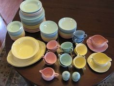 Vintage T.S. & T. Lu-Ray Pastel dishes, 1936-61