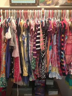 Mix and Match Family: Fifty Two Shades of Shay: Organizing, Saving and Donating your kids' clothes