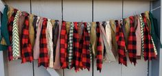 LAST ONE Lumberjack Fabric Bunting, Buffalo Plaid Burlap Banner Garland, Lumberjack Red & Black Plaid, Party Photo Prop, Cabin Mt Woods Fabric Bunting, Bunting Banner, Banners, Fall Bunting, Party Bunting, Buntings, Red And Black Plaid, Red Plaid, Fall Plaid