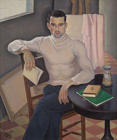 ihavelivedformyart:  monsieurlabette :  Gerardo Sacristán Torralba (Spanish, 1907 - 1964)Sentado Joven con libro ( setting with young Man Book ), 1930