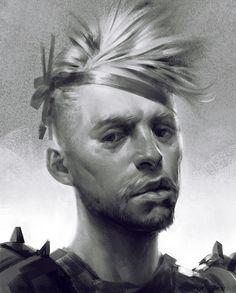 Portrait practice from imagination, Ayran Oberto on ArtStation at https://www.artstation.com/artwork/portrait-practice-from-imagination