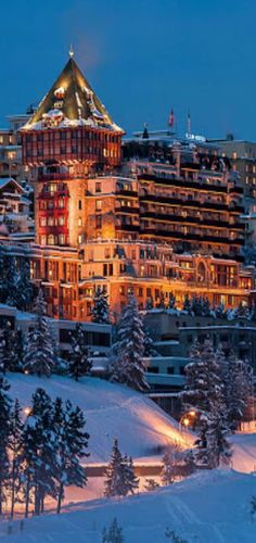 The Badrutt's Palace Hotel is an historic luxury hotel in St. Moritz, Switzerland.