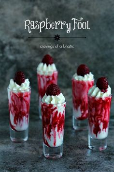 Raspberry Fool from cravingsofalunatic.com- This fool recipe is simple to put together, yet complex in taste. You are going to love this one. It will become a family favourite! (@CravingsLunatic)