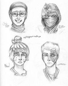 sketch_busts__cyrus_cryptor_pixal_zane_by_prpldragon