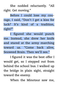 Percy and Annabeth in The Last Olympian! So cute!
