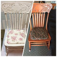 Press back chair done in annie Sloan