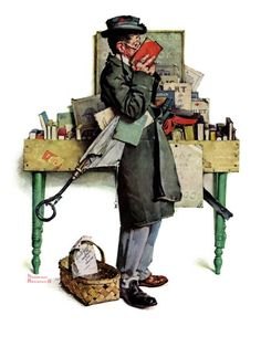 """Norman Rockwell's """"The Bookworm"""""""
