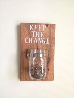 KEEP THE CHANGE Laundry room decor by shoponelove on Etsy