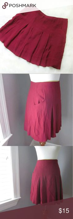 """Coopertive Pleated Pocket Skirt 8 Excellent condition. Just needs a steam/iron otherwise no flaws! Side zip ein3e colored skirt with pockets. Waist 15.5 flat. Length 17"""". Cooperative from UO.  Bundle for best deals! Hundreds of items available for discounted bundles! You can get lots of items for a low price and one shipping fee!  Follow on IG: @the.junk.drawer Urban Outfitters Skirts Mini"""