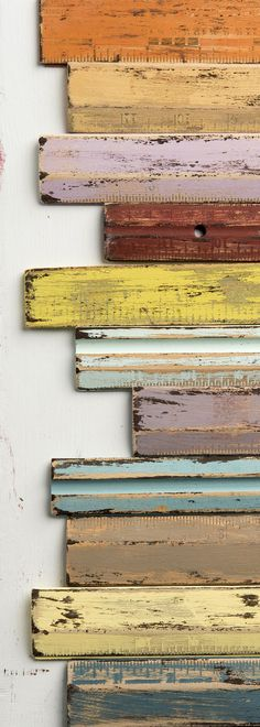 It's so easy to paint a beautiful distressed finish with FolkArt Home Decor Chalk!! Love the colors, too!