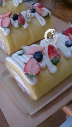 可愛いハーフサイズロールケーキ!|レシピブログ