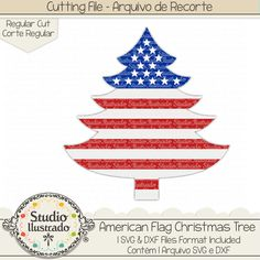 American Flag Christmas Tree, American Flag, Christmas Tree, American, Flag, Christmas, Tree, bandeira americana, america, américa, bandeira, Papai Noel, Noel, Santa Claus, santa, deer, raindeer, Feliz Natal, Merry Christmas,  ornament, enfeites, slide, rena, renas, Trenó, arquivo de recorte,  corte regular, regular cut, svg, dxf, png, Studio Ilustrado, Silhouette, cutting file, cutting, cricut, scan n cut.