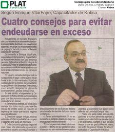 Kobsa: Consejos para no sobreendeudarse en el diario Del País de Perú (17/05/16)