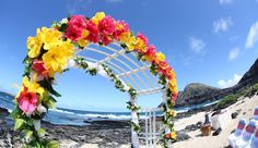 hawaii beach weddings | custom designed alters on Oahu