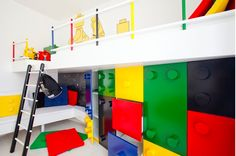 Modern Kids Design With Cool Lego Storage Kids Bedroom Designs, Kids Room Design, Playroom Design, Basement Designs, Lego Bedroom, Bedroom Themes, Bedroom Rugs, Bedroom Furniture, Bedroom Ideas