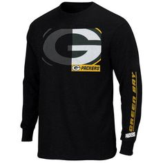 Mens Green Bay Packers Majestic Black Best Team Standing Long-Sleeve T-Shirt 2287bb063