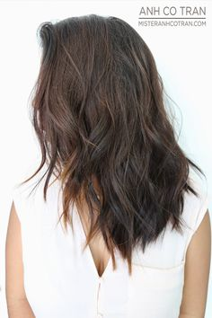 GORGEOUS LAYERS WITH A SOFT UNDERCUT. Cut/Style: Anh Co Tran. Appointment inquiries please call Ramirez|Tran Salon in Beverly Hills: 310.724.8167