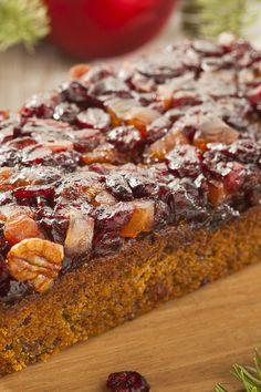 Incredible Christmas Fruitcake Recipe with Cherries, Mango, Cranberries, Currant, Citron, Dark Rum, Brown Sugar, Cinnamon, Molasses, and Pecans