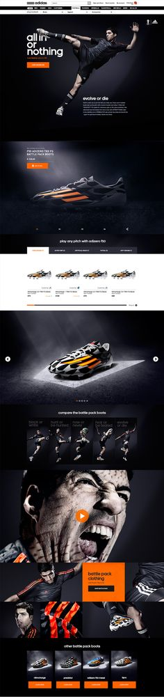 #adidas - Battle Pack by Robbin Cenijn, via Behance