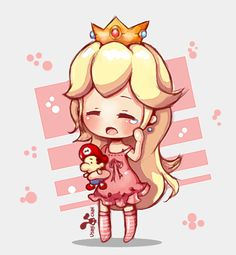 Princess Peach Mario Toy by DollDigitalDesign.deviantart.com on @deviantART
