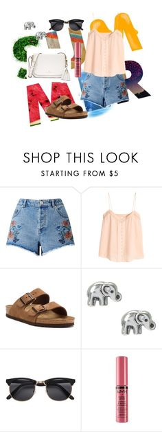 """Summer Days"" by kourtneymary on Polyvore featuring Miss Selfridge, H&M, Birkenstock, NYX and Kate Spade"