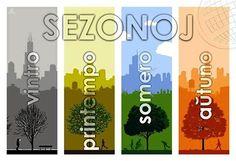 La sezonoj de la jaro. The seasons of the year.