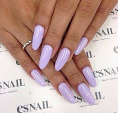 In search for some nail designs and ideas for your nails? Listed here is our list of 28 must-try coffin acrylic nails for trendy women. Cute Nails, Pretty Nails, Hair And Nails, My Nails, Light Purple Nails, Bright Purple, Purple Manicure, Pastel Purple, Gel Manicure