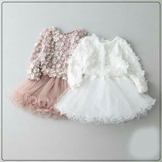 Available in white and pink, , Baby Girl Fashion, Baby Girl Dresses Fancy, Frocks For Girls, Flower Girl Dresses, Flower Girls, Baby Girl Fashion, Kids Fashion, Baby Dress Design, Baby Gown, Cute Baby Clothes